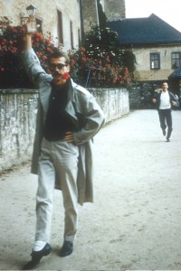 artist as young hoologan, richard keeler on the run. germany. 1961