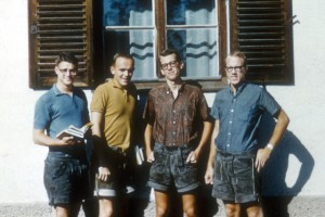 lederhosen horses, laird patterson, bill schaefer, the artist, bob wahl. 1961