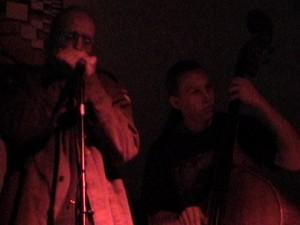 artist as harp player, opie backus on bass